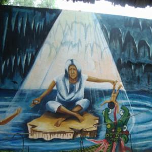 Mural público de Maní, Yucatán.